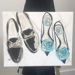 Gucci & Dior Flat Shoe Canvas Print